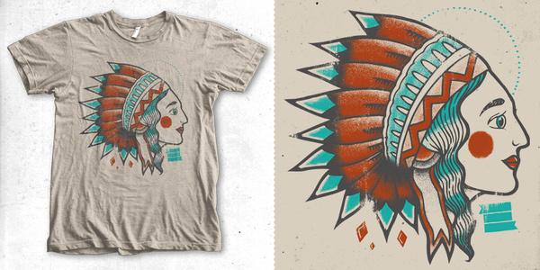 indian girl T shirt design by chriskillerartworx Mintees #indian