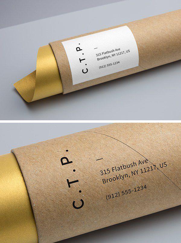 Cardboard Tube Packaging MockUp - Awesome Mockups