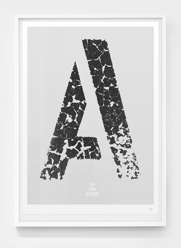 Image of (A) for Atomic #weathered #black #distressed #poster