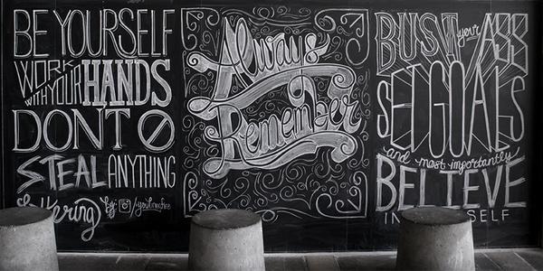 CJWHO ™ (scott biersack | inspirational chalkboard...) #design #chalkboard #illustration #art #typography