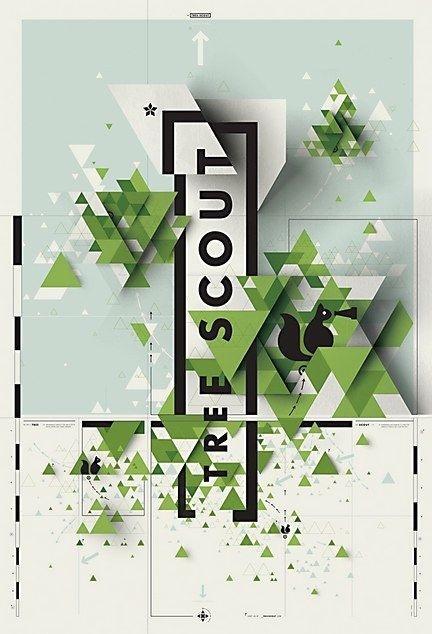 Tree Scout. Poster. Eric Karnes, designer