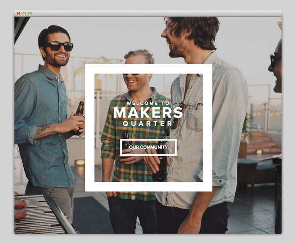 Makers Quarter #website #layout #design #web