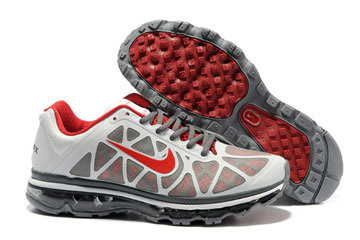 Nike Air Max 2011 White Grey Red-Mens #shoes