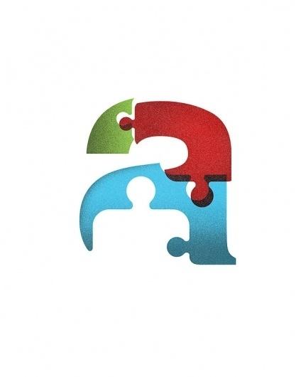 Autism Awareness Art Print by Jon Ashcroft | Society6 #ashcroft #jon #puzzle #letter #autism #awareness #overprint #typography
