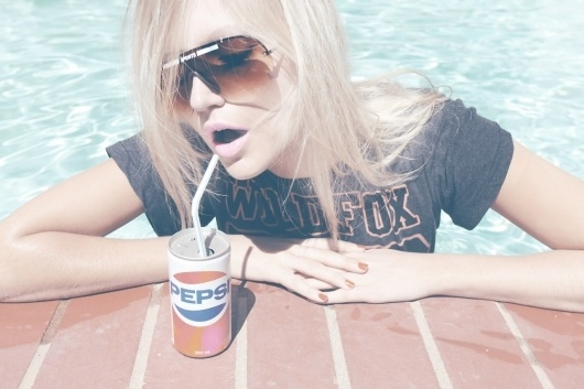 Inspiration for artists from Wildfox Couture - I LOVE WILDFOX - Sweet Valley Fox, Summer2011 #girl #wildfox #pepsi #couture #photography #fashion