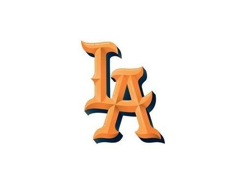 LA #la #typography