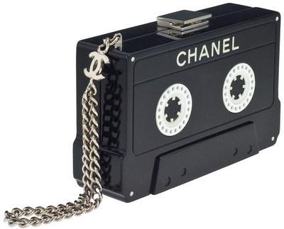Chanel cassette tape clutch #chanel #cassette