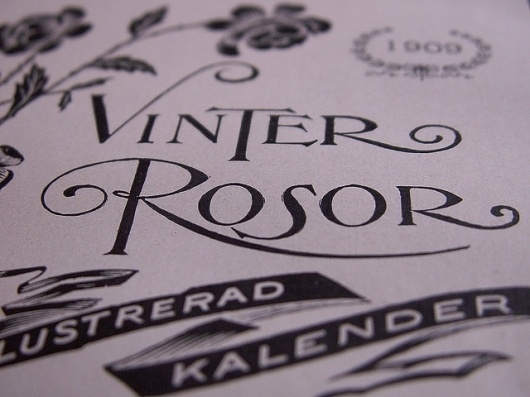 Vinter Rosor | Flickr - Photo Sharing! #nouveau #art #typography