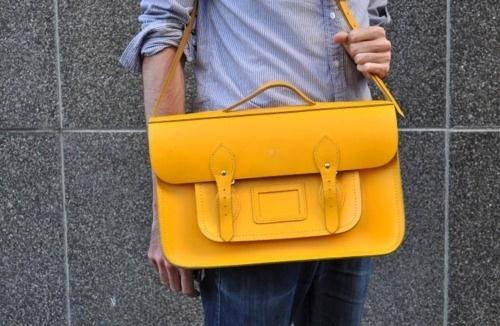 Likes | Tumblr #yellow #satchel #leather #fashion #bag