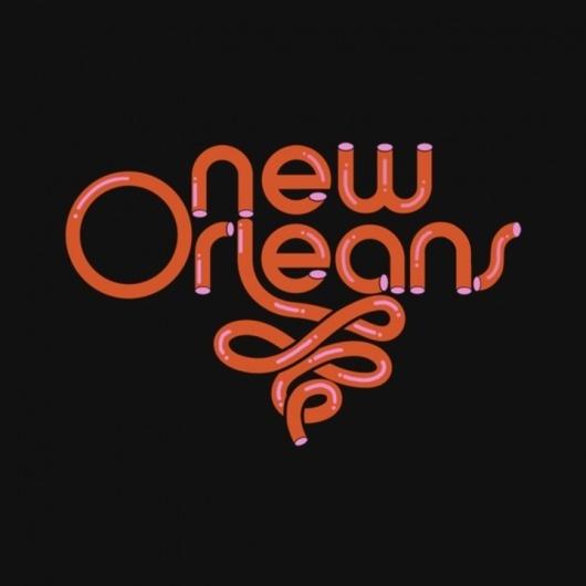 Justin Harder > New Orleans #iconography #icon #logo #identity #symbol #type
