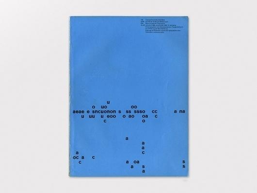 Display | Typographische Monatsblatter 1958 Number 6/7 June/July | Collection #cover