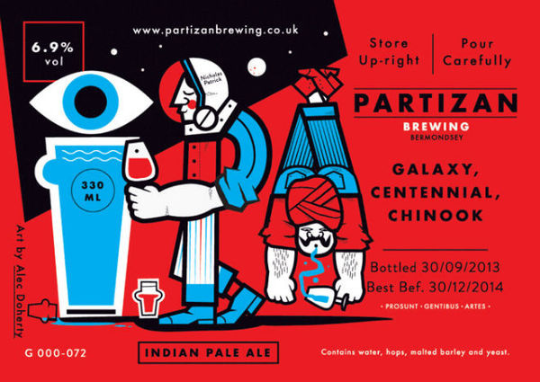 Etiquetas ilustradas para la cerveza artesanal Partizan Brewing #illustration #label #beer