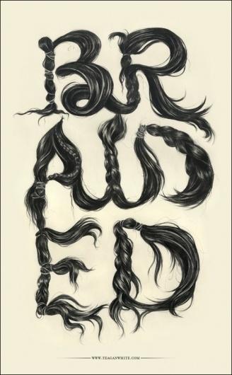 CUSTOM LETTERS 2010, TOP 10 — LetterCult #hair #type #drawing