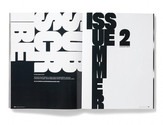 Plastique Magazine: Issue 1 « Studio8 Design #layout #magazine