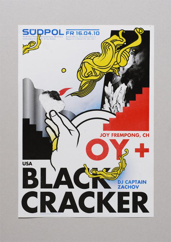 Oy + Black Cracker #vectors #herrpeter #hand #poster