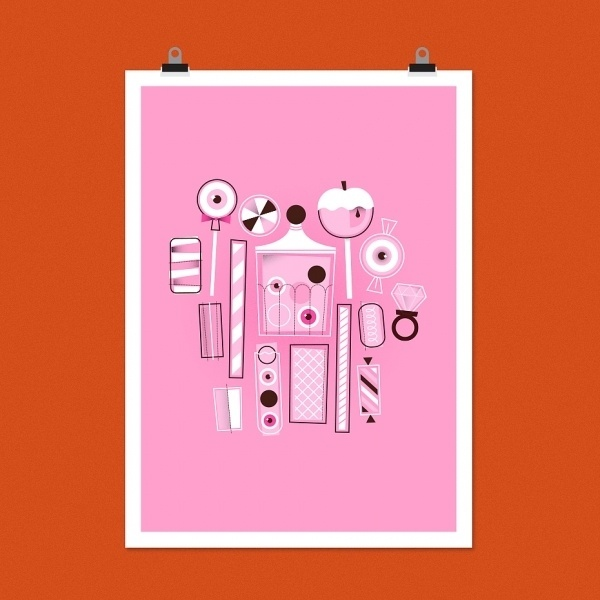 Eye Candy – neiljrook.com #rook #pink #neil #j #candy #illustration #sweets