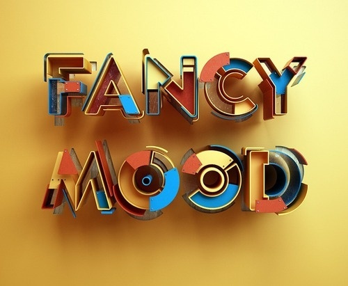 designaemporter:Fancy Mood by Luke Brown #type #design #sculpture #3d