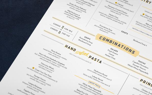 Romanos Macaroni Grill #menu #typography