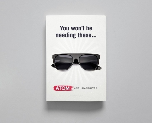ATOM - Jimmy Gleeson Design #design #sunglasses #gleeson #jimmy #poster #anti #hangover #atom