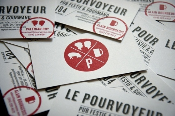 Le Pourvoyeur business card - CardFaves #card #business