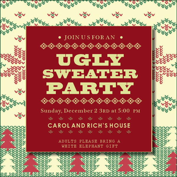 Ugly Sweater Party on Behance #christmas #invite #ugly #sweater
