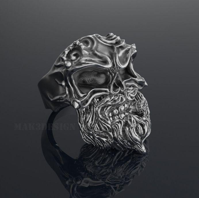 ring skull smoker 3d model obj stl 1