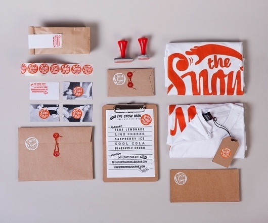 the Snow Man - SilentPartner — The Portfolio of Shane Loorham #design #stationery