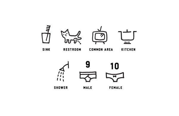 Hostel icon system by nami kurita #drawn #hand #icons #iconography