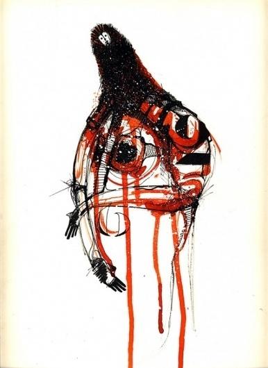 Amose | Fubiz™ #amose #illustration #red #black