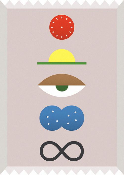 4eva #abstract #sun #pink #print #eye #illustration #minimal #poster #art #time #clock #drawing