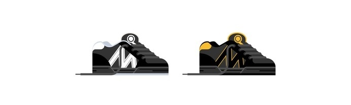 Skate Shoes of the 90s – Emerica Marc Johnson 1 by Nathan Manire #clothes #retro #icons #theme #illustration #vintage #design #skateboarding #nostalgia #geometric #symbols #series #footwear #flat #shoes #collection #ui #90s #fashion #ephemera #simple #vans