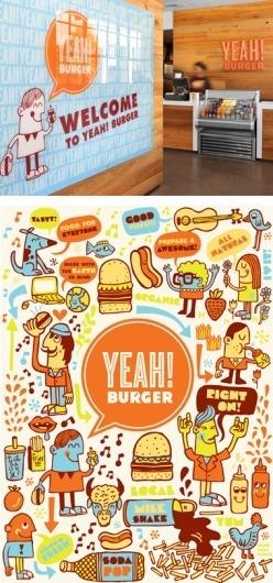 Yeah! Burger - design - work - tad carpenter #burger #carpenter #yeah #tad
