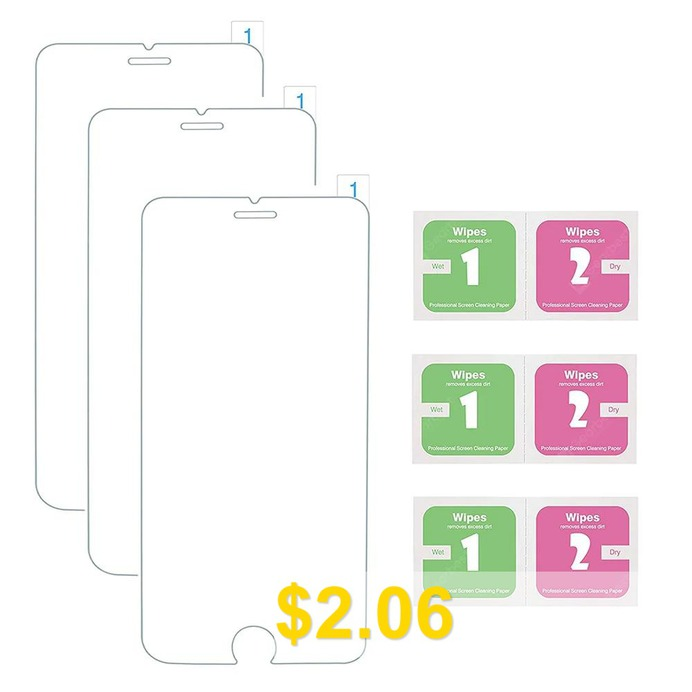 3 #pcs/lot #Tempered #Glass #Screen #Protector #Film #for #iPhone #6 #/ #6s #/ #7 #/ #8 #- #TRANSPARENT