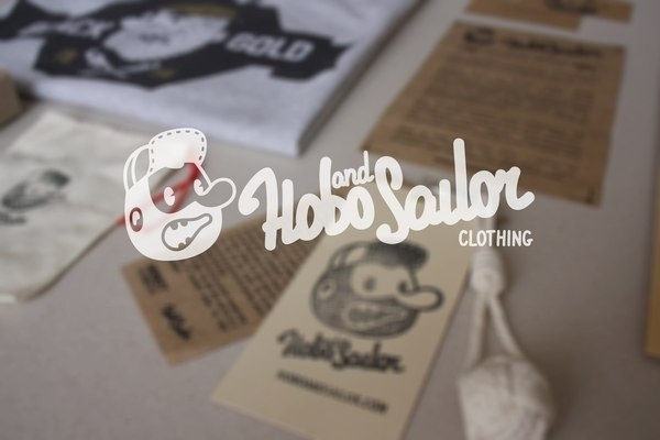 HOBO AND SAILOR CLOTHING on the Behance Network #logo #design #clothing #shirt