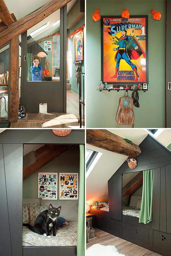 amazing kid's room in interior designer isabelle juy's paris apartment #interior #design #decor #deco #decoration