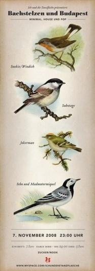 · TROPENELEKTRONIK · #birds #poster