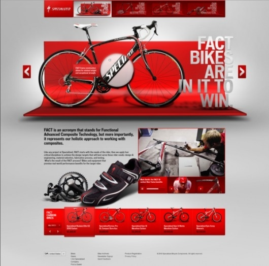 Specialized Bicycles Website Design #webdesign