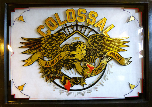 Designersgotoheaven.com Colossal by Best Dressed Signs. #colossal #eagle #signpainting