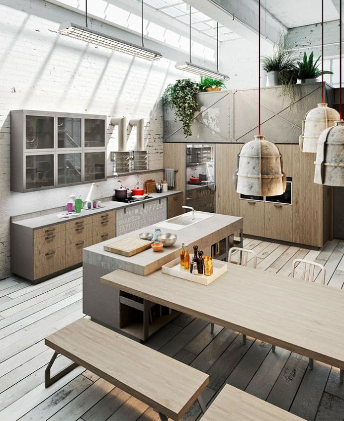Loft Style Kitchen Design by Michele Marcon - #kitchen, #kitchens, kitchen ideas, kitchen design