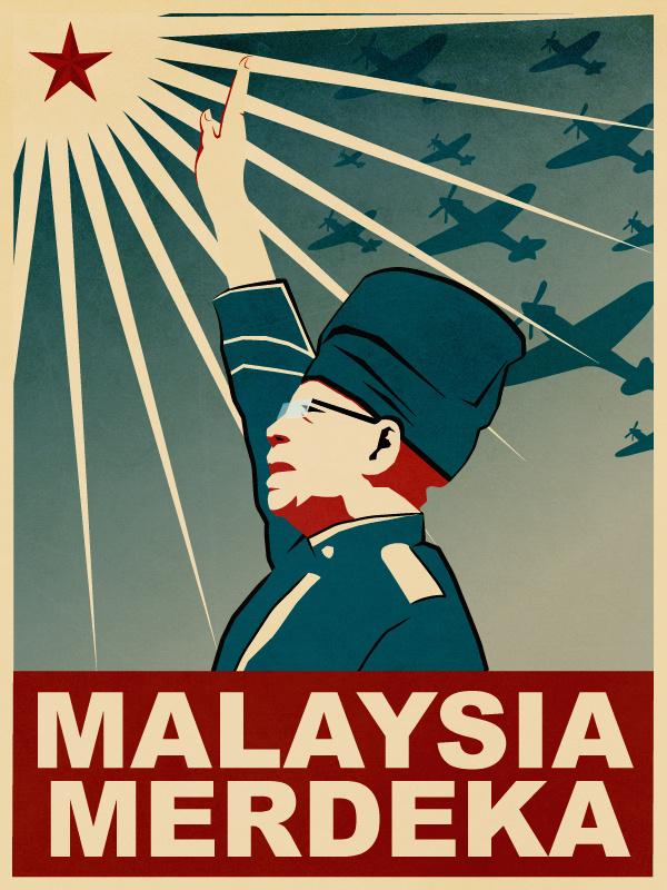 Merdeka and Mouse #propaganda #independent #illustration #malaysia