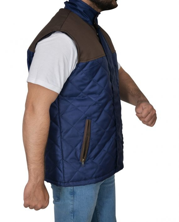 Alex Roe The 5th Wave Diamond Quilted Vest (2) F-R