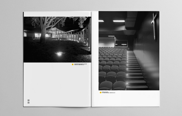 Y2 Architecture #swiss #yellow #circles #black #clean #minimal #helvetica #brochure