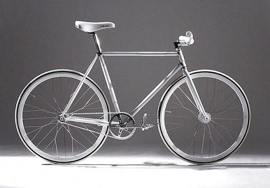 NIKE AF1 SILVER SERVICE FIXIE - Newsflash - Sneaker Freaker Magazine #fixie #fixed #silver #nike #bike