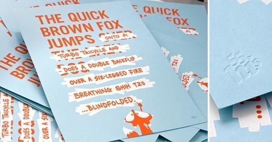 The Quick Brown Fox |Â 55His #fox #55his #brown #quick #handwritten #poster #illustraton