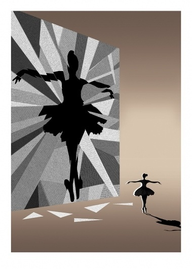 BAFTA 2011 Program Cover - Black Swan. #illustration