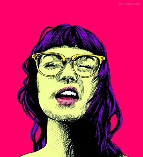 CLRLYWRNG. #illustration #portrait #girl