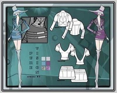 http://www.artdesignfashion.com/images/fashion-board-5.jpg #fashion #illustration #presentation #flats