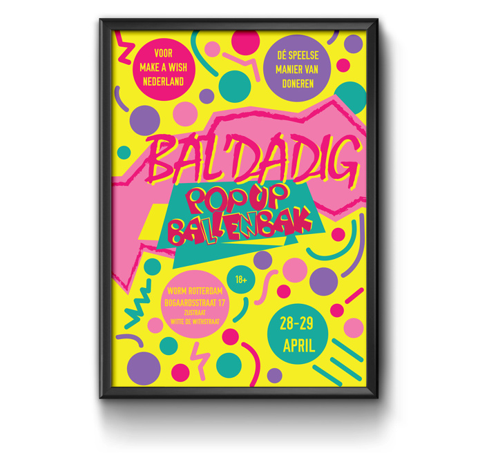 90s poster, ballenbak