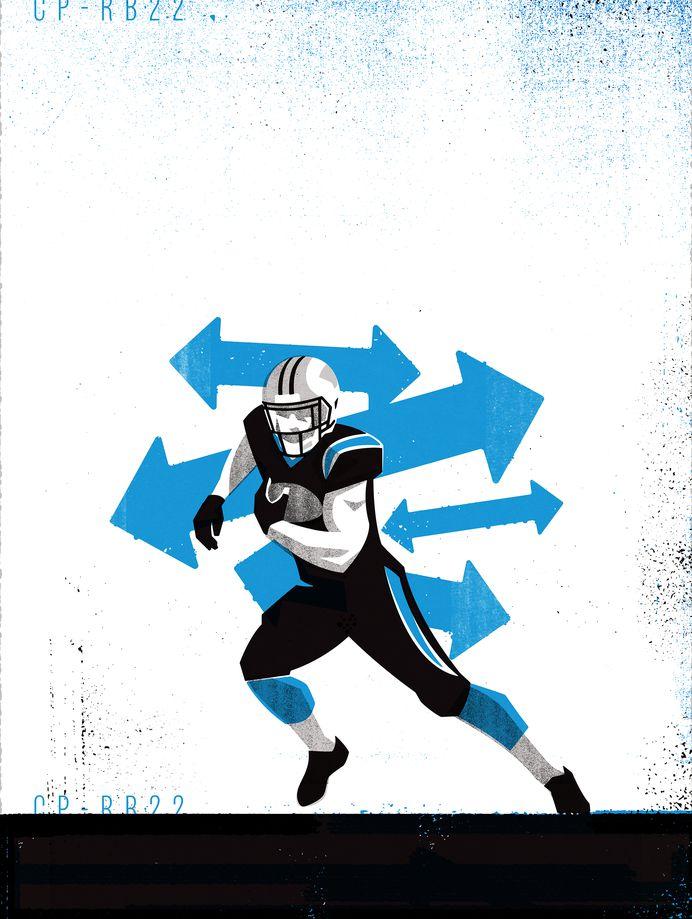 CMC1 #Illustration by Matt Stevens #Sports #NFL #Carolina #Panthers #American #Football