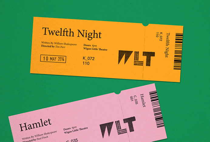 Wigan Little Theatre by Alphabet #print #graphic design #tickets